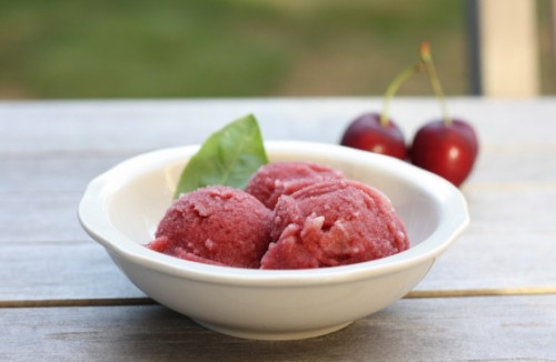 cherry-grapefruit-basil-sorbet