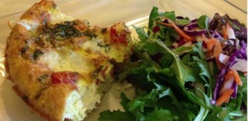 frittata-tomatoes-basil-mozzarella