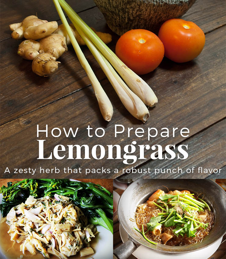 preparing lemongrass