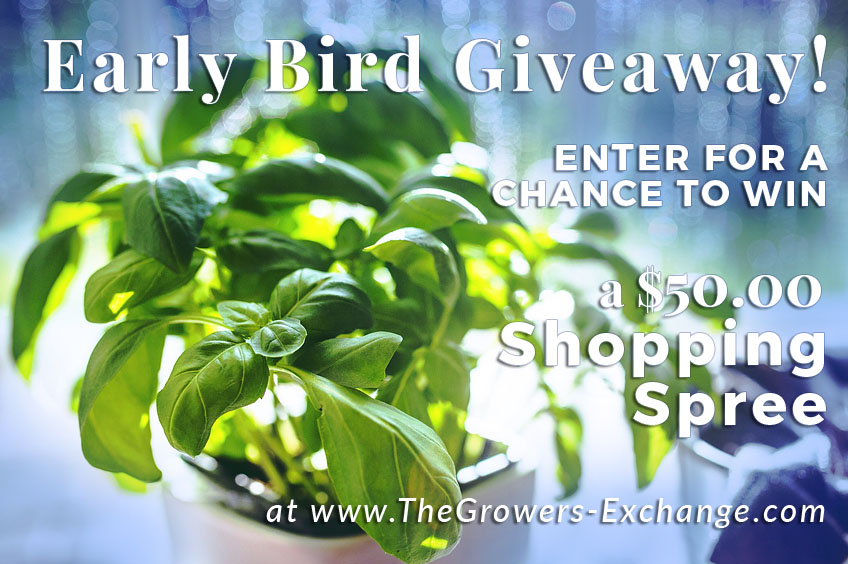 Early Bird Spring Gardening $50 Giveaway