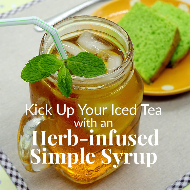 herb-infused simple syrup